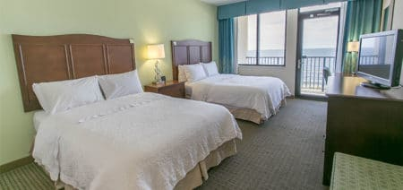 Beachfront Double Queen Room | Hampton Inn & Suites | Orange Beach AL | Featured Image